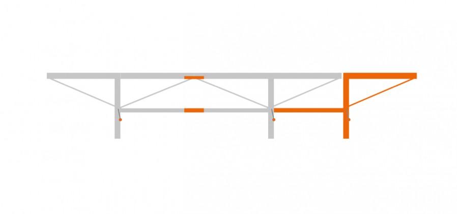 Forlengelsespakke 1,0 meter med 1 ekstra stokkløfter, F2+