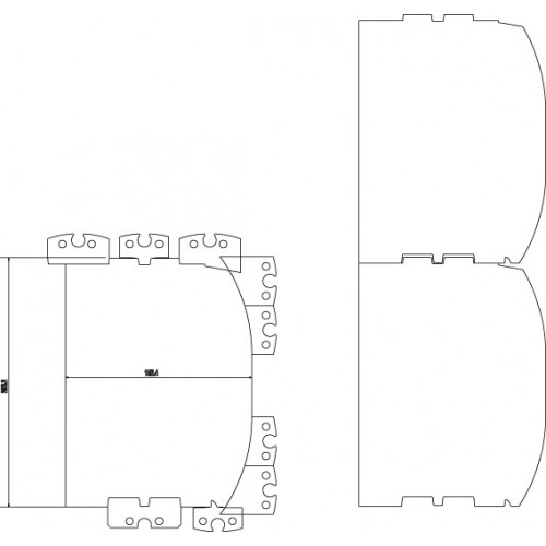 "Tømmerstålsats, D-log 6-8"", inkl. kiler"