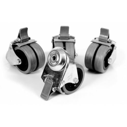 Hjulsett, 4 stk. låsbare hjul