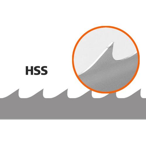 5 st HSS-sagblad till B751, L: 3843 mm, B: 34 mm