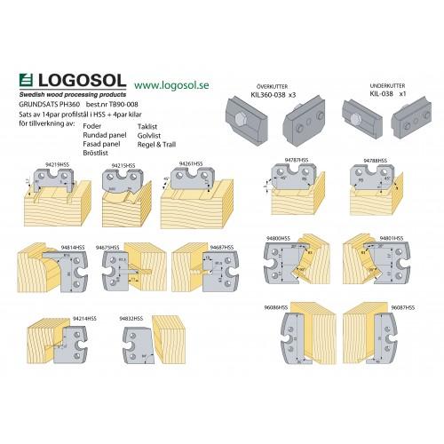 Startpakke med stål og kiler til PH360/365